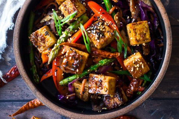 Spicy Tofu Mushroom Salad