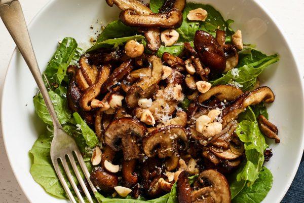 Spicy Crispy Mushroom Salad